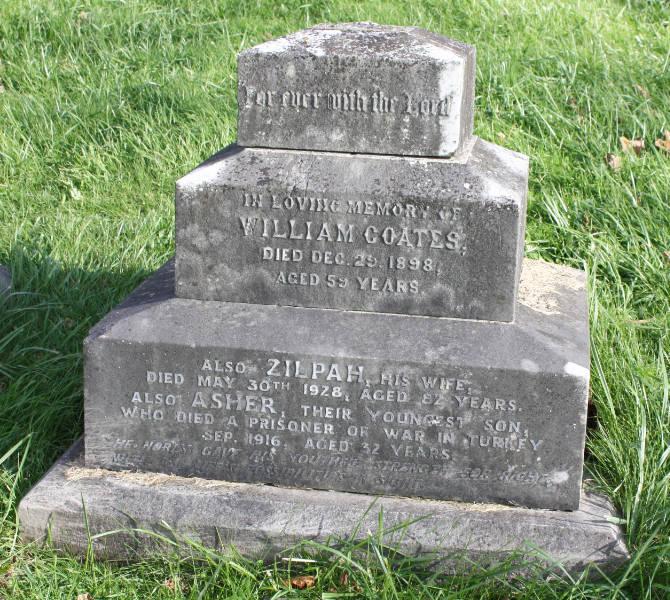 ceaab1307 Coates Asher Submariner Barrow Cemetery gravestone